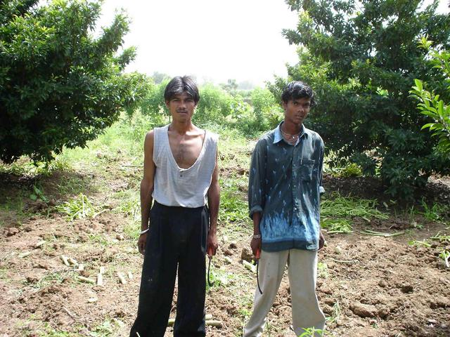Farmhands Kallu & Deepak in the farm near 21N73E