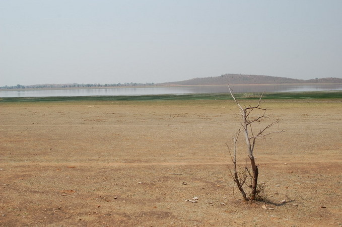 Seoni tank - the reservoir is a few hundred metres from the CP