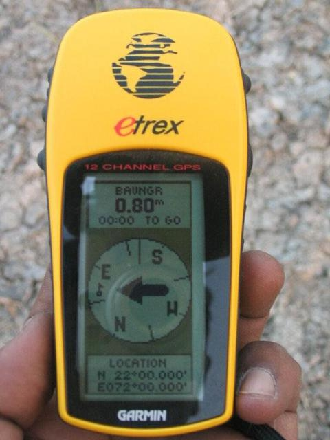 GPS Reading at CP 22N 72E