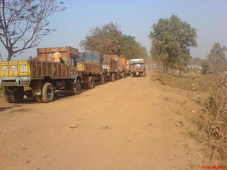 #1: Road to the point - choked with trucks moving iron ore