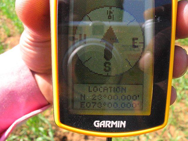 GPS Reading at CP 23°N 73°E