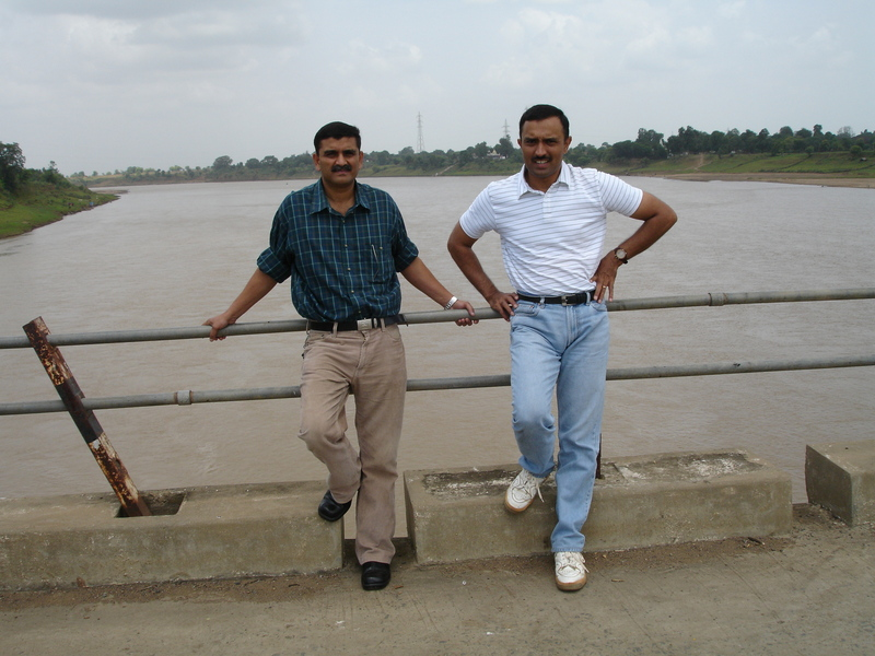 Crossing The River Narmada on the way to The Confluence