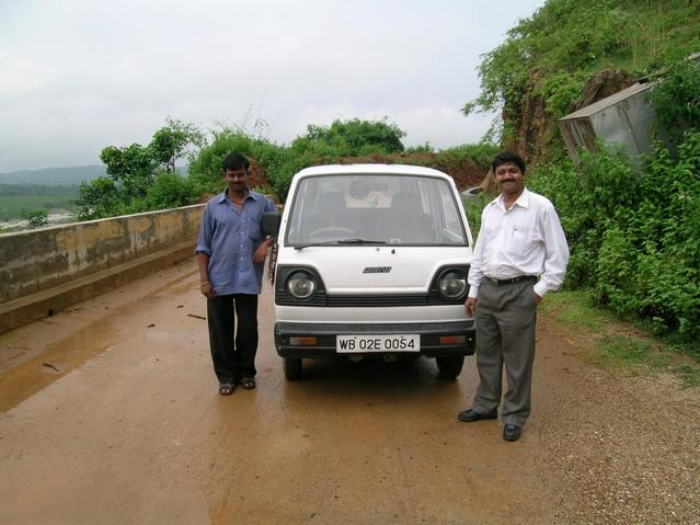 Bibhas & our car with the driver