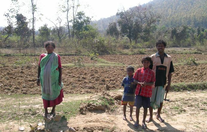Rural farmer family at the CP