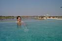 #9: The swimming pool and the temple at Udai Bilas Palace in Dungarpur