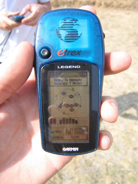 GPS showing the location 24.000N 81.000E