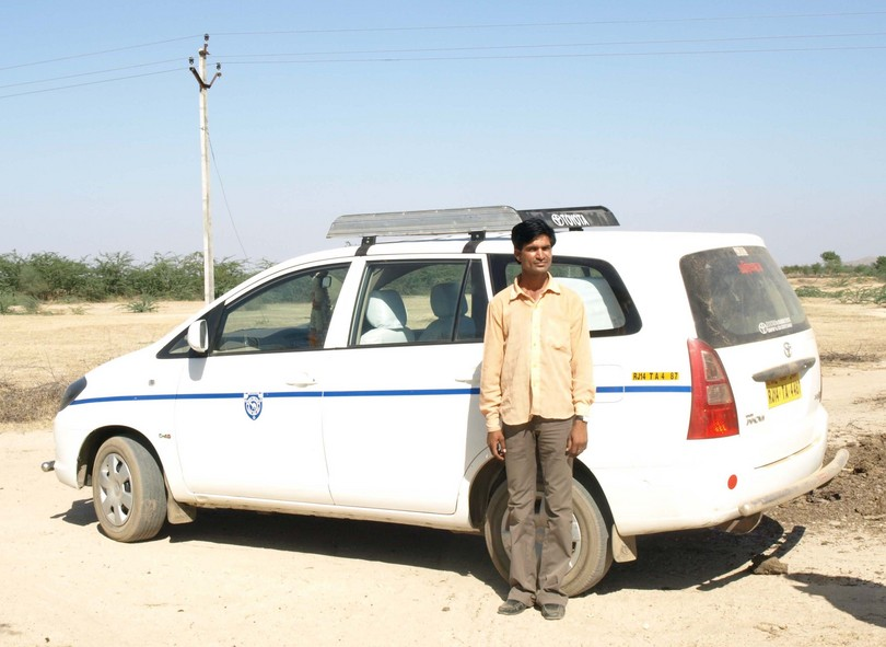 Our Intrepid Driver, Atish Kumar, Near The Confluence