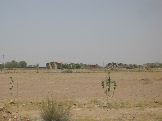 buildings on the military complex