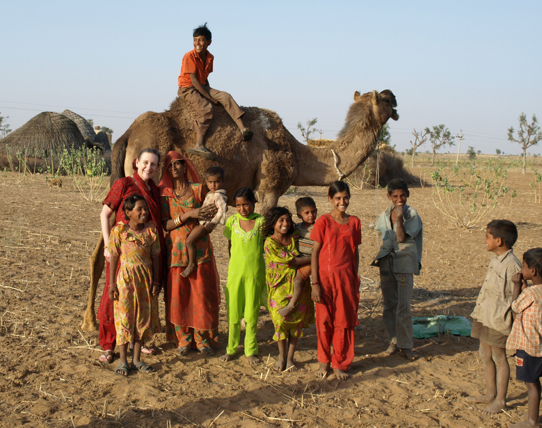 Candace With Local Residents & Camel