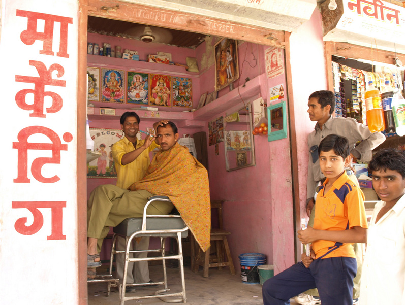 Residents Of Kuchera & Tulsi Ram In His Barbershop