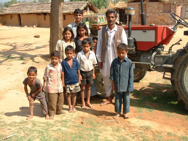 The farmer's family at home near the point