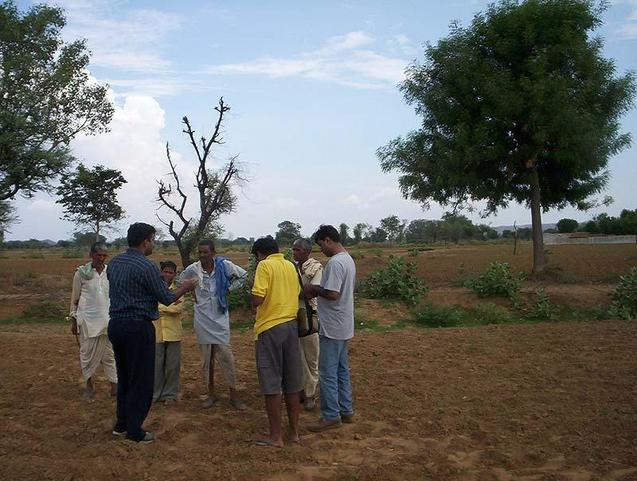 Explaing to farmers