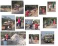 #6: A montage of villagers, walking and working within 5 km of the confluence