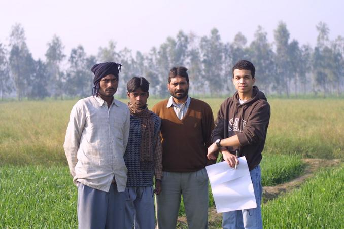 (From right) Rai with Chander Pal, Bipin, and Ashish