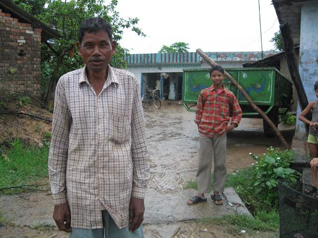 Farmer Isan Singh in the village of Nagwanat, near the cp