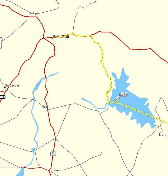 Map of the confluence created with the GPS track and MapSource software