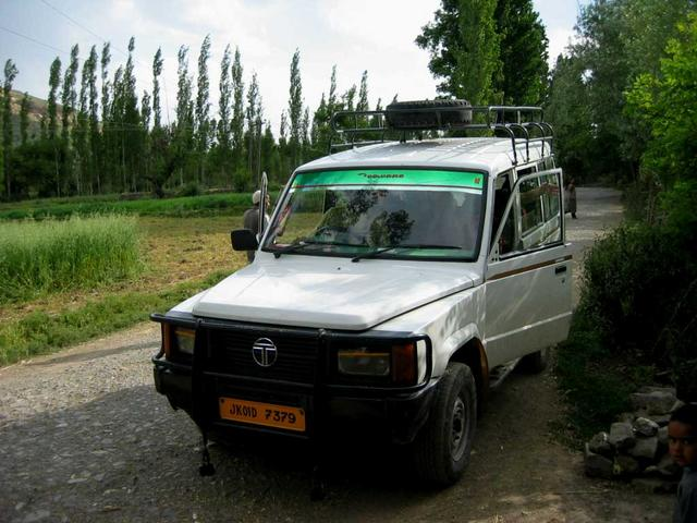 The Tata Sumo we arrived in