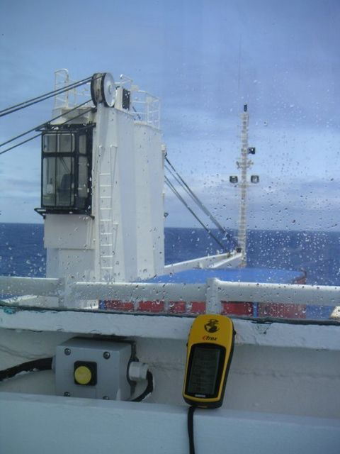 View to South-East from outside the bridge of RMS St. Helena