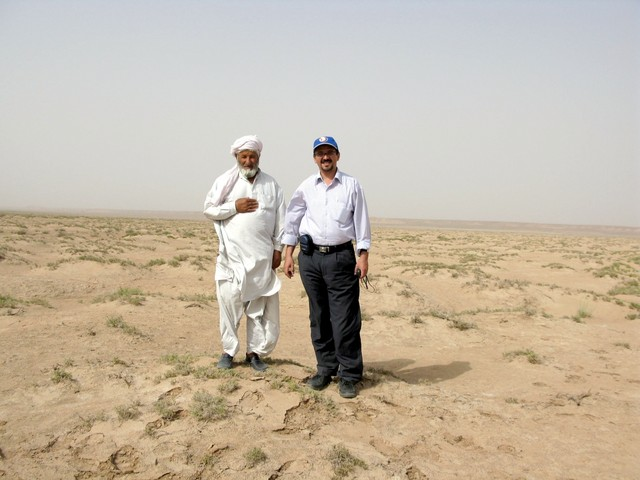 Nabi Kabudani and Sirous Nekooi (Me) at the Confluence