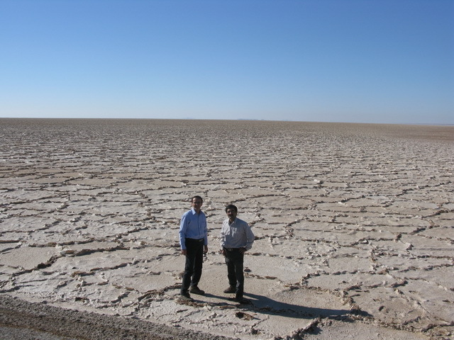 The central desert salt lake, our final destination