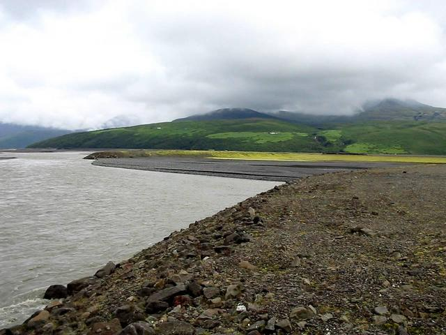 View north from dam