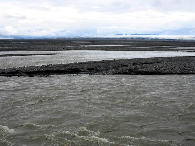 View west from dam