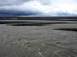 #1: Confluence on island in braided river Skeidará, 424 m away