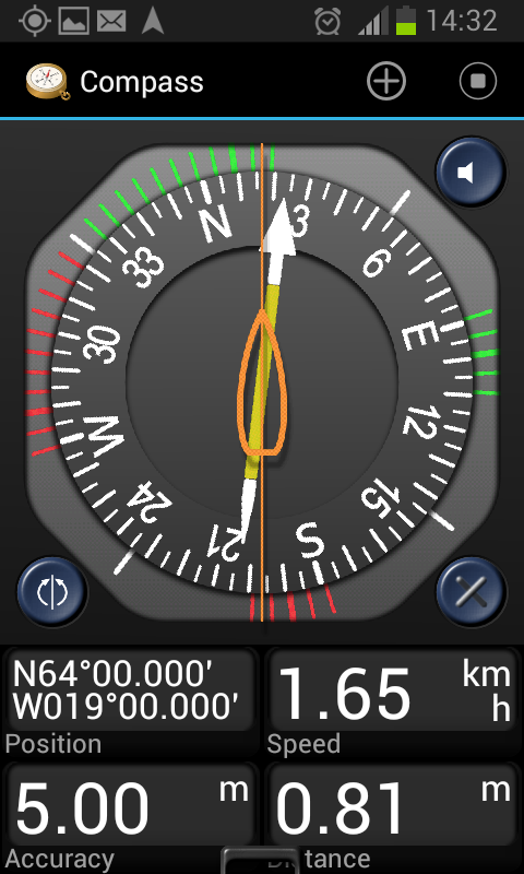 Screenshot of my Android GPS app