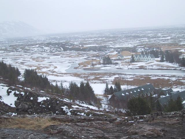 View over Thingvellir, site of early parlament