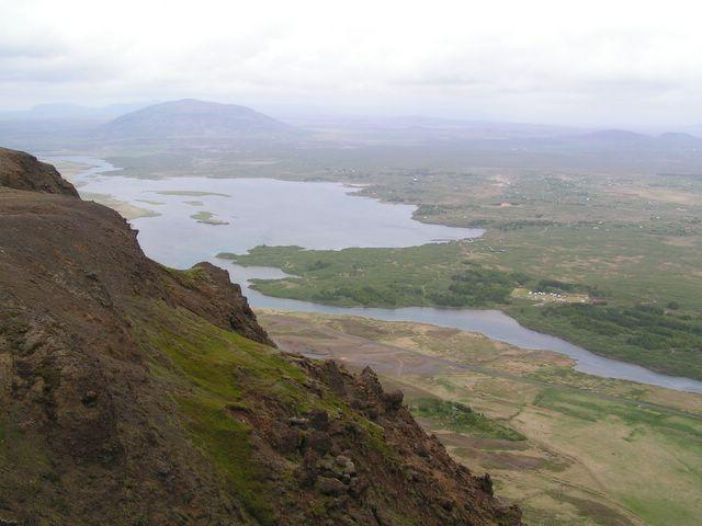 View from the ridge, Álftavatn and Búrfell