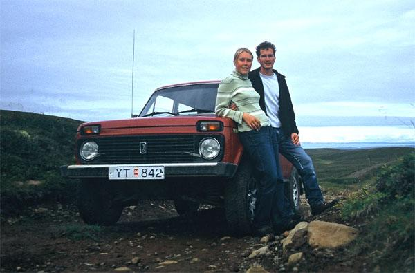Dorit & Eckehard with their vehicle