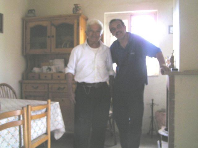 Captain Peter and Giuseppe in his living room