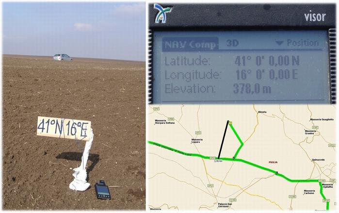 CP to NW; GPS reading & map