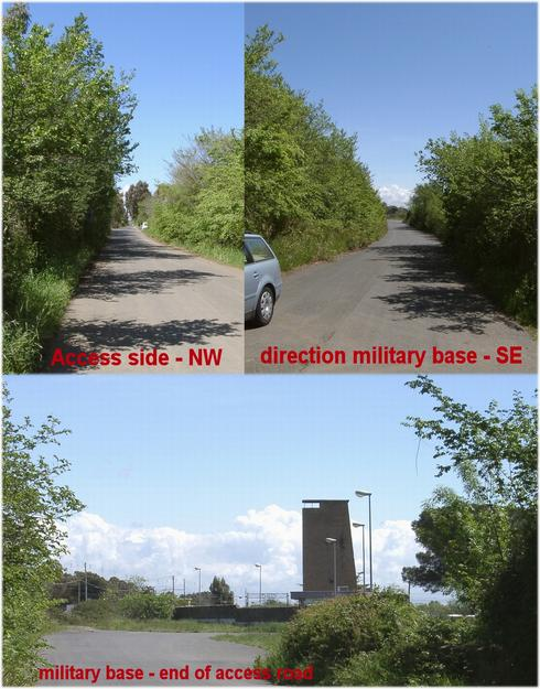 Access to south east, to military base