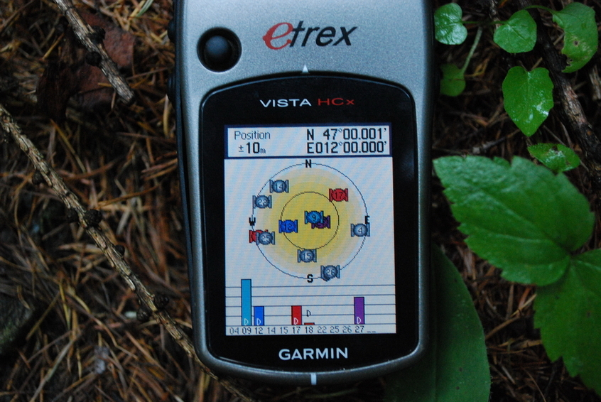 GPS reading at the CP 47N 12E