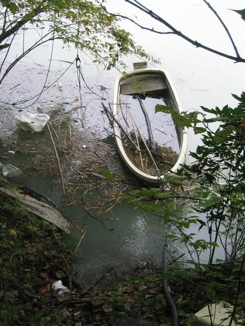I found this old boat to take me to the confluence.