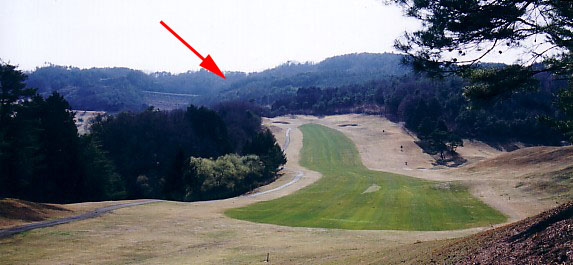A view from across the golf course