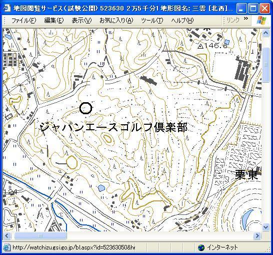 1/25000 official map by GSI(Geographical Survey Institute).