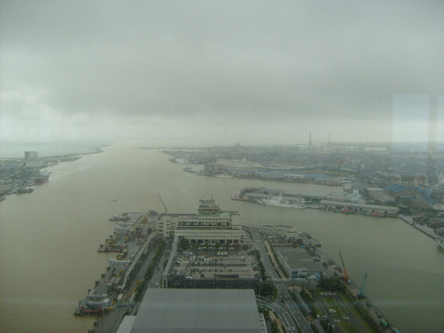 The Niigata Harbor area looking towards the confluence