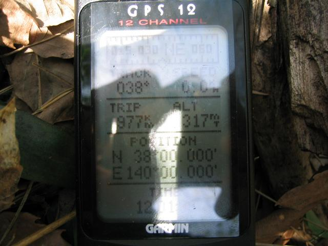 GPS at confluence.