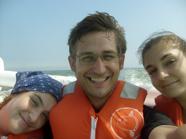 Anna, Philipp and Katharina seasick but happy