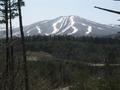 #5: View of Appi ski area near confluence.  Covered in late spring snow.