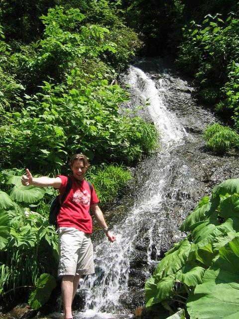 Me in front of a nice waterfall.