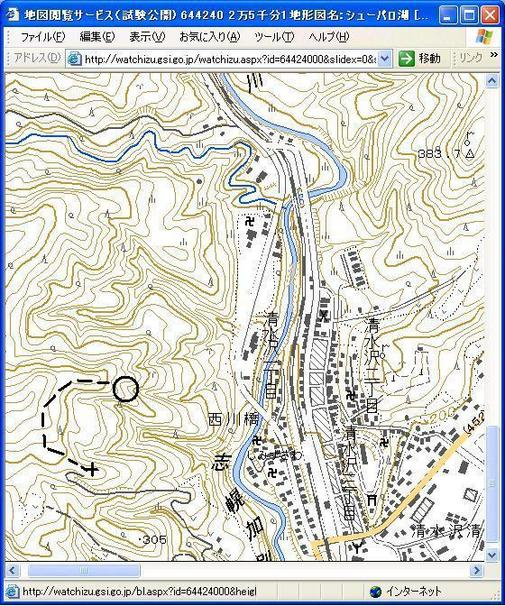 Map of  the confluence.