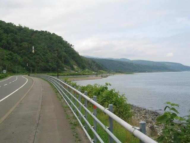 The perimeter road at the point 6.5 km from the confluence.