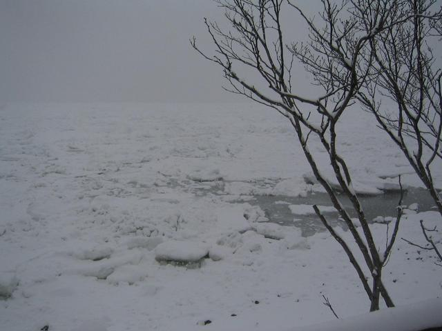 Our starting point at the frozen Okhotsk Sea