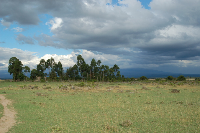 East towards Mt Kenya (in the cloud)