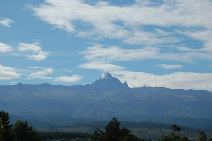 Mt Kenya next day from 10km away