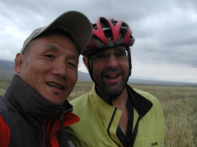Ray and John at CP - a great end of the Silk Road Expedition