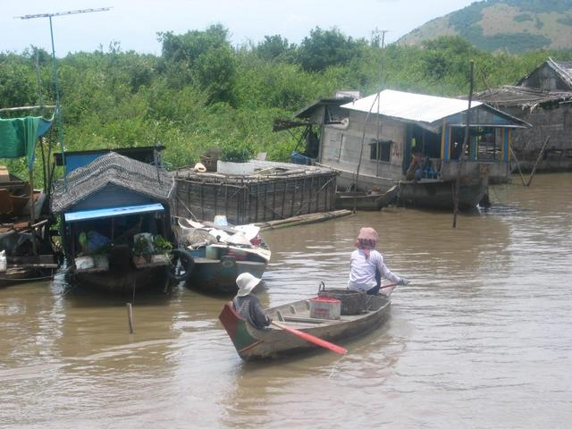 Floating village at Tonle Sap